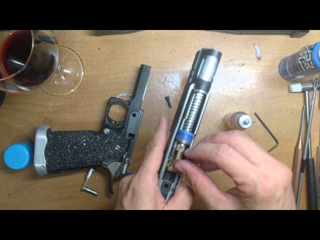 Action Air IPSC Pistol Maintenance Clean Lubricate