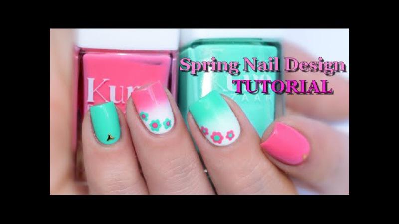 [ Nail Art ] Spring nail design - Easy Tutorial melyne nailart
