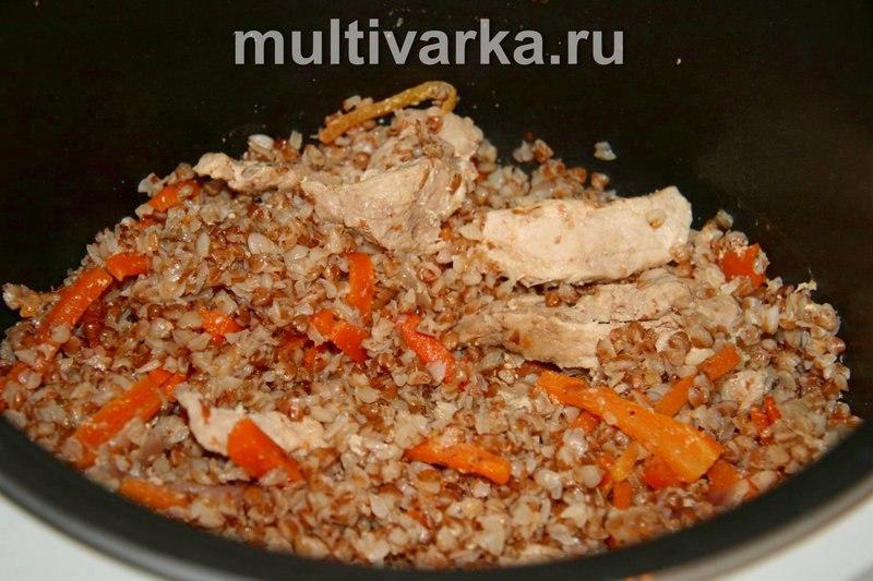 Как приготовить в мультиварке свинину с гречкой
