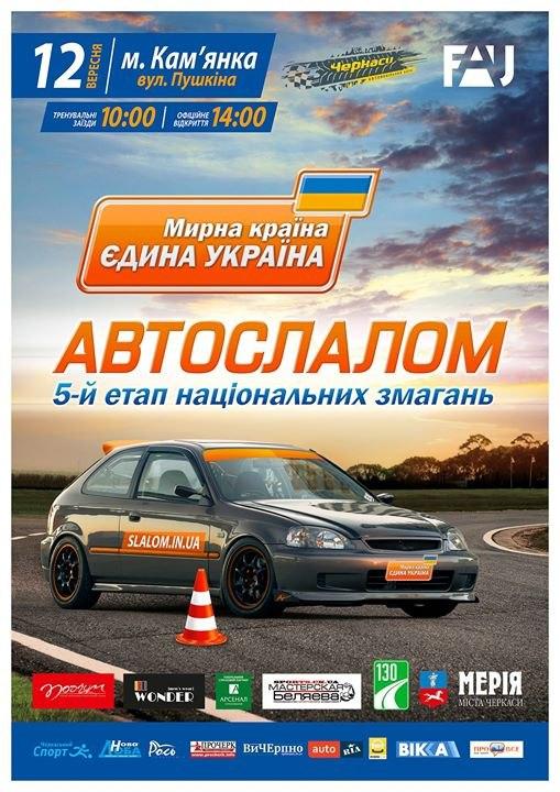5 етап Національних змагань з автомобільного слалому «Мирна країна – єдина Україна» м. Кам'янка 12.09.2015