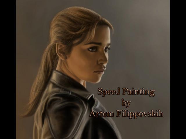 Sarah Connor - Speed Painting by Artem Filippovskih
