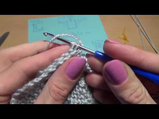 Схема вязания пинеток спицами 4 шаг Scheme knitting bootees knitting needles 4 step