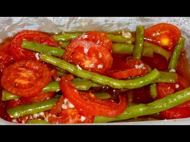 Закуска из Зеленой Фасоли с Помидорами - Супер Вкусно
