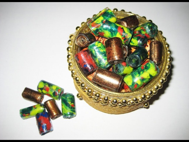 DIY Бусины из пластиковых бутылок своими руками Мастер класс Beads from plastic bottles