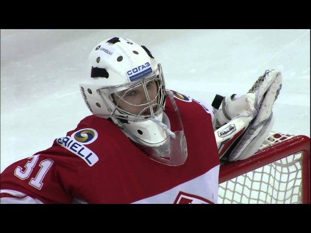 Иванников не дает забить Кокареву Ivannikov gloves Kokarev shot