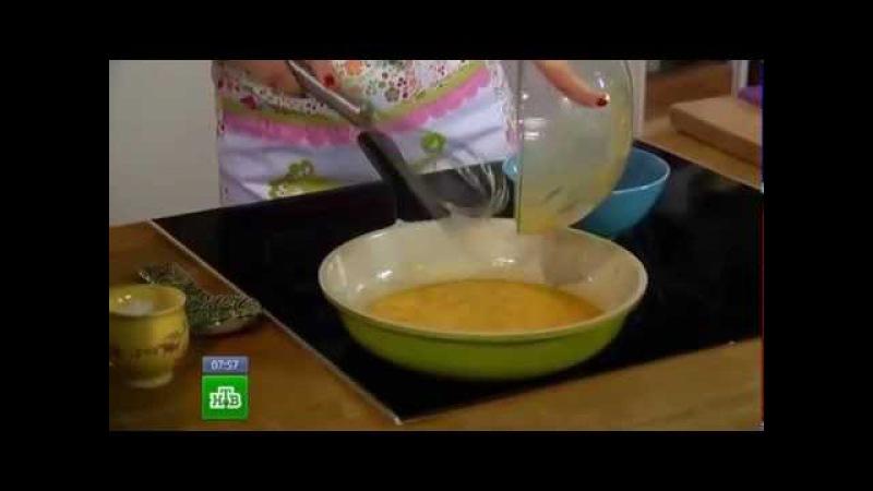 Завтрак с Юлией Высоцкой - Омлет с козьим сыром, помидорами и базиликом