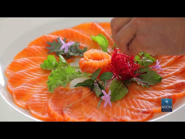 How to make Huon salmon sashimi with Masaaki