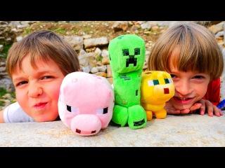 # Minecraft игра в реальном мире! Арсений и Адриан играют в Майнкрафт в развалинах
