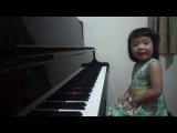 Amazing 3-year-old baby girl plays Grade 5 piano ~