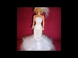 Одежда для кукол. Свадебное платье для Барби своими руками. Barbie doll crochet dress