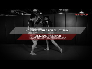 MUAY THAI: 5 Basic Fake Setups | Evolve University
