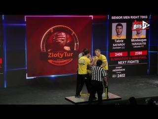 Zloty Tur 2015 - 70kg mens right hand