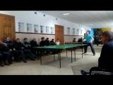 Фінальний матч різдвяного турніру з настільного тенісу Балецький Олександр - Омельчук Володимир