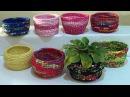 DIY Cestas de corda e tecido Baskets of rope and fabric Cestas de cuerda y la tela