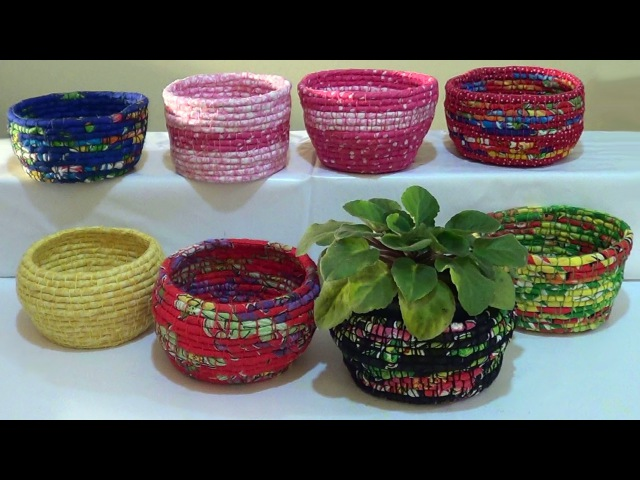 DIY - Cestas de corda e tecido / Baskets of rope and fabric / Cestas de cuerda y la tela