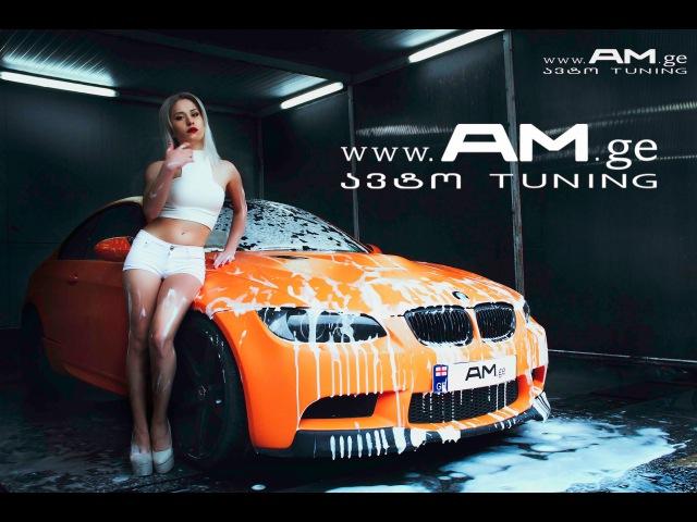 AM.ge - Two BMW M3 - Car Wrapping - Orange Matte - ფორთოხლისფერი მატი