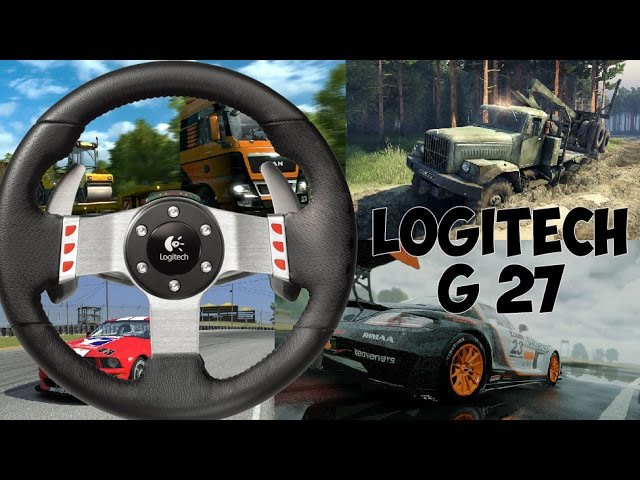 ОБЗОР Logitech G 27 в ETS 2, Spin Tires, iRacing, Project cars