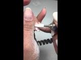 Снятие гель лака керамической фрезой