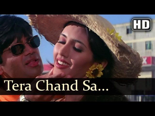 Tera Chand Sa Chehra Sunil Shetty Deepti Bhatnagar Hum Se Badhkar Kaun Bollywood Songs