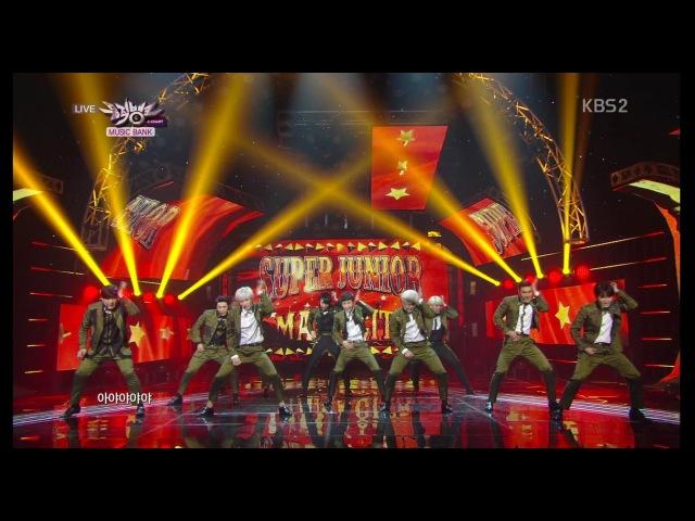 Super Junior 슈퍼주니어_Front-Runner Stage 'MAMACITA(아야야)'_KBS MUSIC BANK_2014.09.12