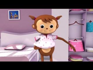 Getting Dressed Song - US Version - Nursery Rhymes - классный мультфильм на английском языке для малышей 0-6 лет