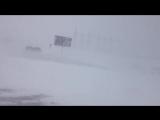 Мощная метель парализовала движение в Оренбургской области