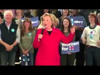 Когда кончились аргументы  - Хиллари Клинтон лает как собака