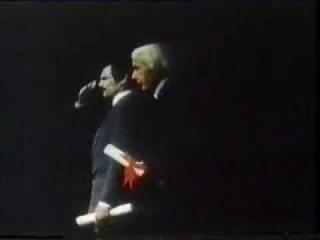 Канны, 1983 год. Награждение Андрея Тарковского за фильм «Ностальгия»