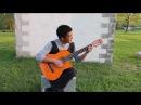 Кыргыз жгёт на гитаре