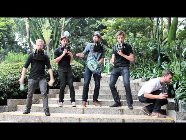 Bottle Boys - Party Rock Anthem (LMFAO cover on bottles).*