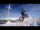 First fat descent peak Rothorn 2340 hm (snow fat bike freeride)