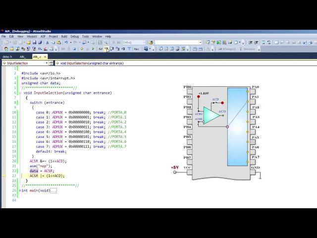 Программирование микроконтроллеров (компаратор часть 2)