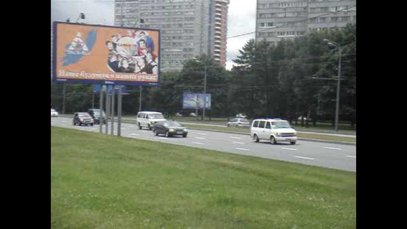 Кортеж президента США в Москве 06/07/2009 - Obama motorcade in Moscow