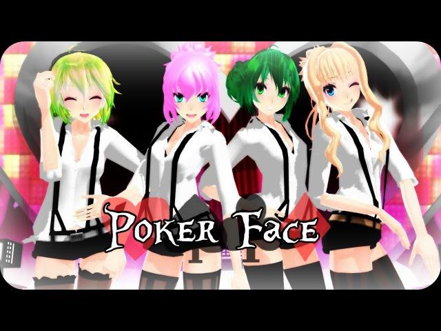 [MMD] Poker face ~Miku,Gumi,Luka,Seeu