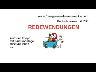 zweiteilige Redewendungen   B1 - C1    Deutsch lernen