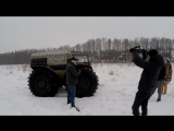 ШЕРП - телезвезда (съёмка сюжета о вездеходе каналом Россия24)