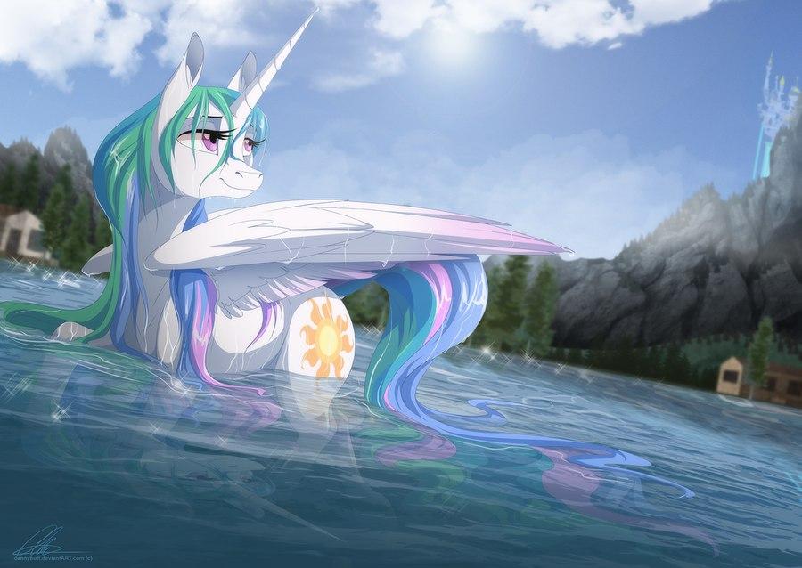 Принцесса Селестия космический Гольф