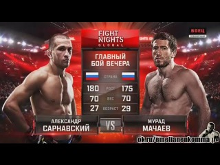 Александр Сарнавский vs. Мурад Мачаев . FIGHT NIGHTS GLOBAL 44. 26 февр.2016