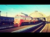 2М62К-1163 с поездом №606 Львов - Рахов