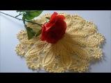 Вязание крючком салфетки. Crochet doily. Crochet tablecloth.