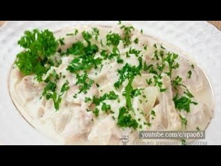 Рыба в сметано-сливочном соусе. Рецепт приготовления / Fish in sour cream and creamy sauce. Recipe