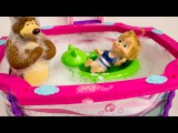 Барби Маша и Медведь мультик с куклами Аквапарк Бассейн игрушки для детей на русском