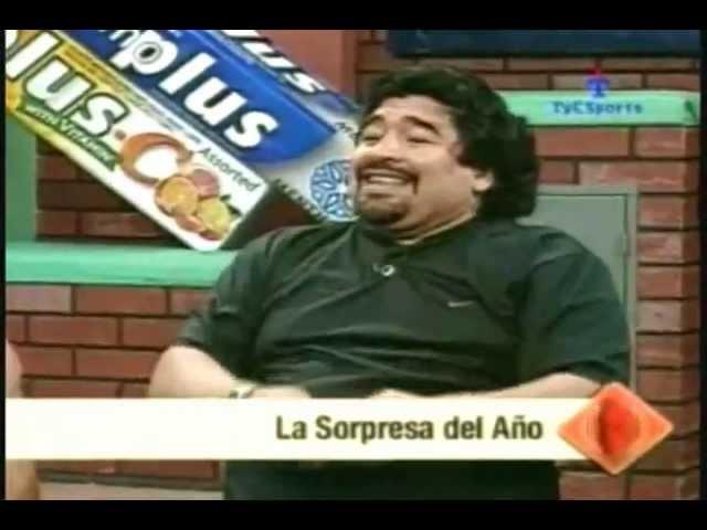 Maradona cuenta la anécdota del bidón.
