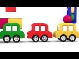 SMART CARS CUBE DANCE DEMO! Kids 3D Cartoons - Learn Numbers. Развивающий мультфильм на английском языке 4 машинки. Учим цифры.