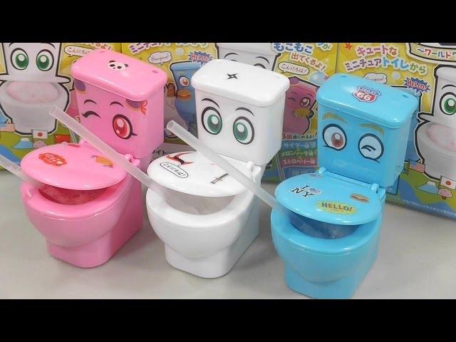 포핀쿠킨 신상 모코모코 모코렛 변기 음료수 만들기 요리놀이 가루쿡 일본 49