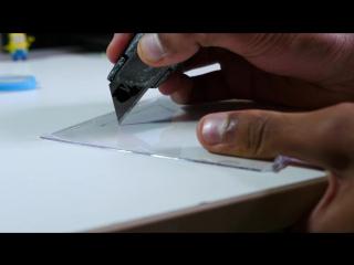 3D голограммы на смартфоне с помощью пластика от коробки CD