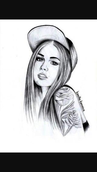 картинки девочек красивых нарисованных