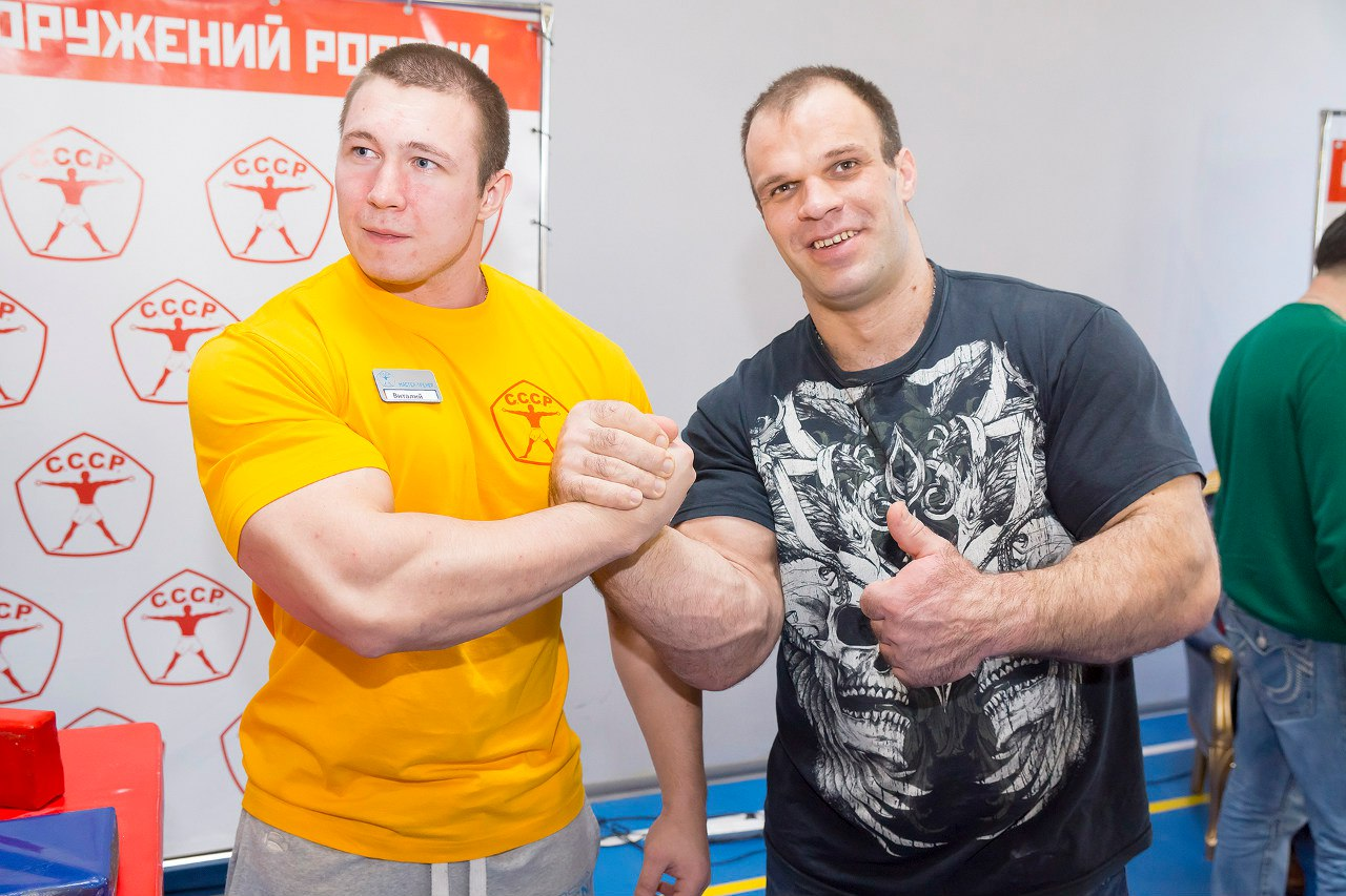 "Denis Cyplenkov king of the table after the ""CCCP Armwrestling Championships 2016"""