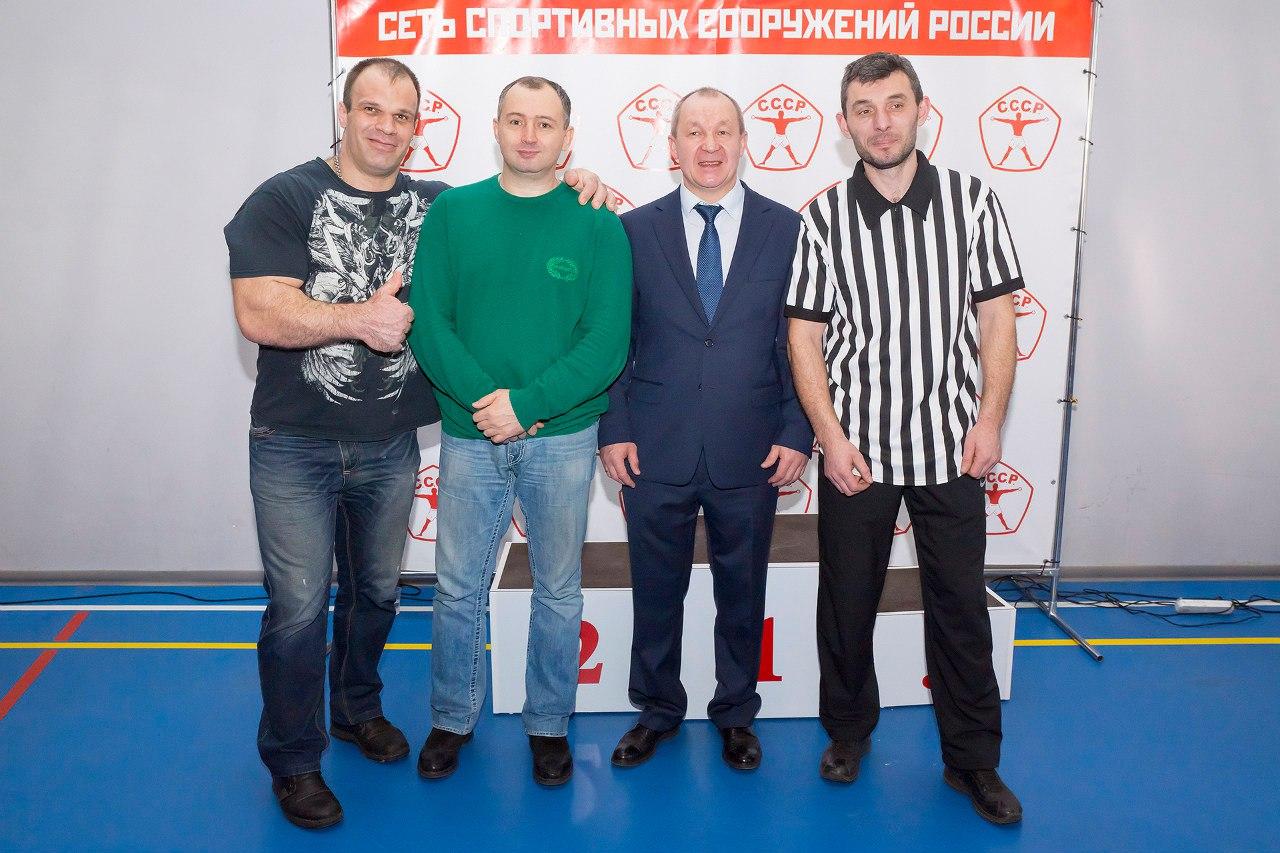 """Denis Cyplenkov, Kote Ramadze, Alex Mundzhishvili - referee at """"CCCP Armwrestling Championships 2016"""""""