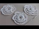 Как вязать цветок розочку крючком с витыми столбиками УРОКИ ВЯЗАНИЯ Crochet Rose